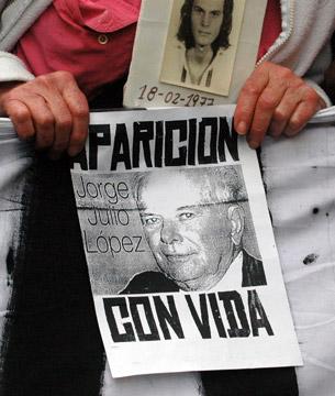 ARGENTINA: EL GOBIERNO DE KIRCHNER DEBE RESPONDER ANTE EL PUEBLO POR LA VIDA DEL CRO. JULIO LÓPEZ